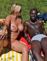 MILF Chrissy spent a relaxing day at the lake with a friend completely nude